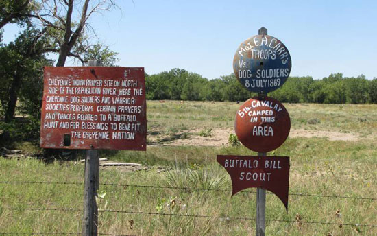 prayer site by Cheyenne Warriors and as a camp for the 5th Cavalry just before the Battle of Summit Springs in July 1860