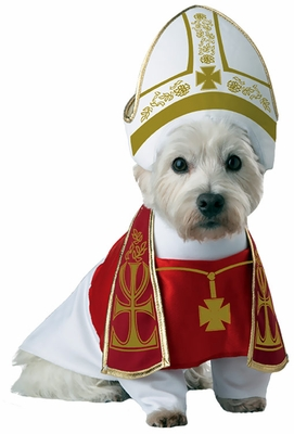 Pope costume for dog