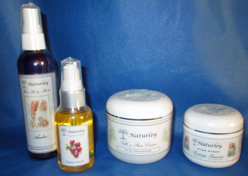 Group of Naturloy Skin Care Products